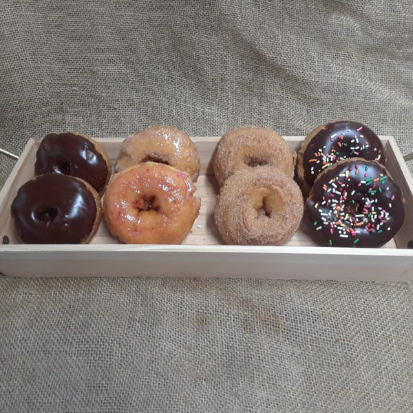 Our farm fresh donuts come in a variety of flavors including our very own strawberries!