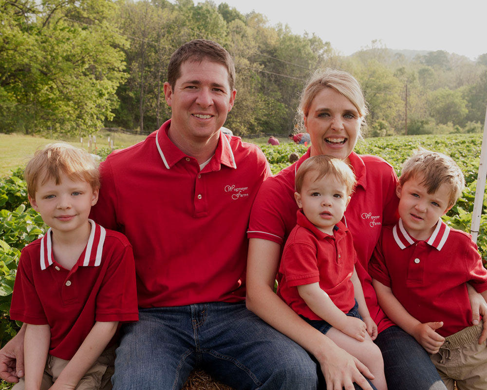 The Wegmeyer Family of Wegmeyers Farms in Hamilton, VA